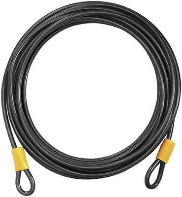 On Guard Locks Akita Series 10MM 15' Cable Only Motorcycle Security,Black/Yellow