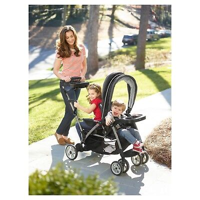 Sit And Stand Stroller Infant Toddler Double Tandem for 2 Kids NEW