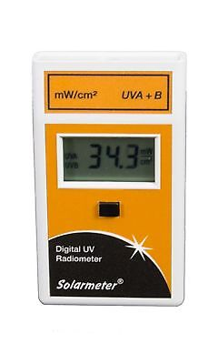 Solarmeter Model 5.0 Standard Total UV Meter - Measures 280-400nm with range ...