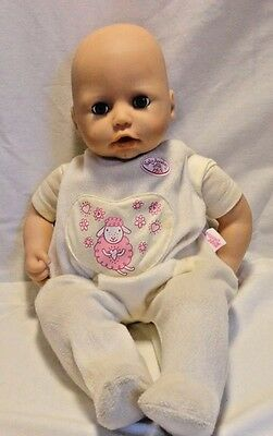 Zapf Baby Annabell Doll Lifelike Interactive Cries Coos Drinks Bottle
