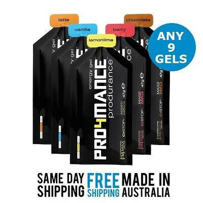 Energy Gels Pro4mance - Any 9  Produrance Energy Gels