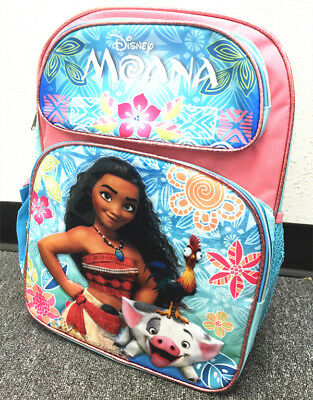 "Disney Moana Large Backpack 16"" school backpack NEW! FREE SHIPPING"