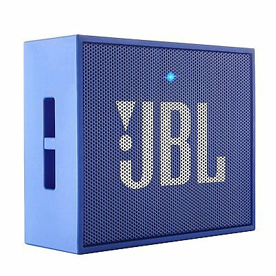 JBL GO Portable Wireless Bluetooth Speaker w/ Built-In Strap-Hook (BLUE)
