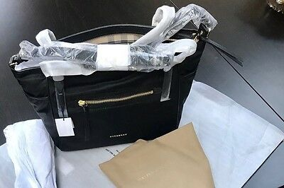 NEW BURBERRY Leather Trim- Diaper Bag BN with tags $1095-100% Authentic Burberry