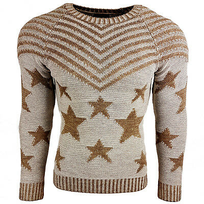 Subliminal Mode - Pull Over Star Homme Tricot SB-6263 Grosse Maille