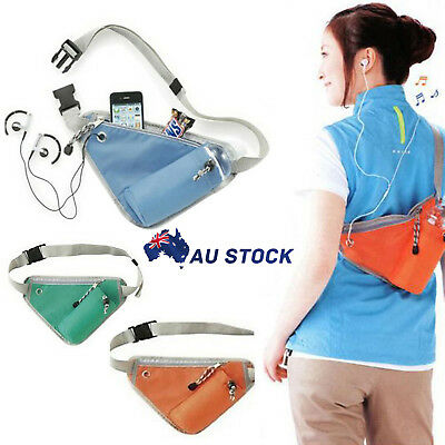 Sports Waist Bag Belt Fanny Pack Hiking Running Bum Bag with Water Bottle Holder