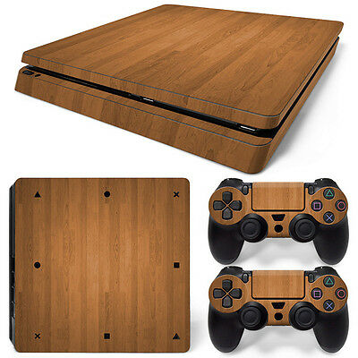 Wood PS4 Slim Console Controller Skin Sticker Brand NEW *AU STOCK*