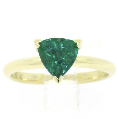 e94797613efe5 GORGEOUS 18K YELLOW gold ring natural green colombian emerald 1.35ct ...