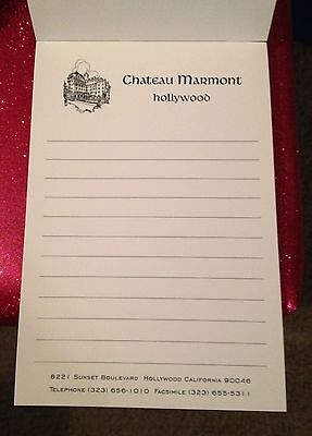 CHATEAU MARMONT Hollywood hotel California NOTE PAD