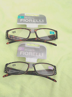 2 X Fiorelli Women's Catwalk Wendy Reading Glasses 1 Glass +1 & 1 Glass +2