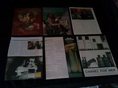 lot of 35 perfume cologne magazine print ads 1954-2012 nice ad collection