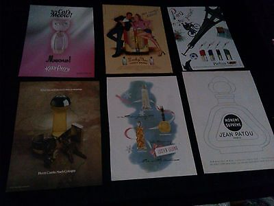 lot of 24 perfume cologne magazine print ads 1945-2012 pierre cardin dior