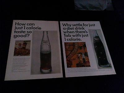 lot of 9 tab cola soda magazine ads 1965-1968 great variety