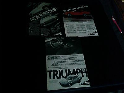 lot of 3 triumph tr-7 magazine print ads 1975 1976 1977car ad make save money