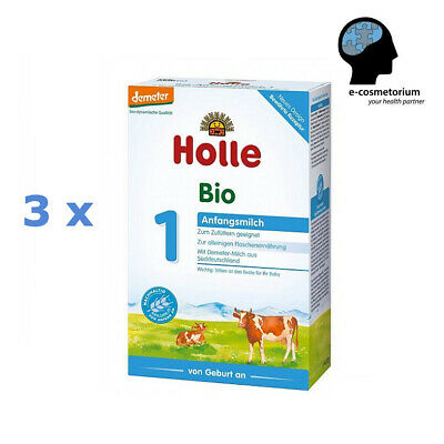 3 x Holle Organic Infant Milk Formula 1 - from birth (stage 1) 14.1 oz (400 g)