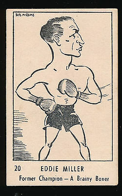 1950 Victorian Nut Supplies Eddie Miller Boxing Card RARE