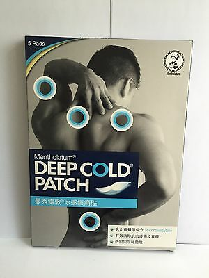 1 x Mentholatum Deep Cold Patch 5Pads 10cm x 14cm