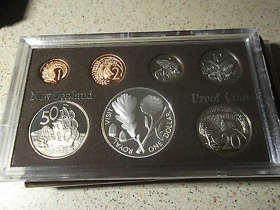 New Zealand -1981 Proof Coin set featuring Silver One  Dollar