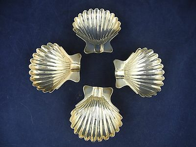 Sanborg Mexico Sterling Silver 4 Shell Shape Ash Tray Dish