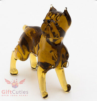 Art Blown Glass Figurine of the Brussels Griffon dog