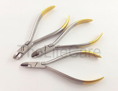 Dental Orthodontic Pliers Standard Distal End and Ligature & Hard Wire cutter