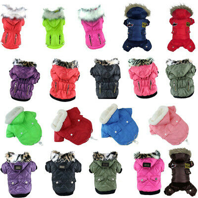 Dog Cat Coat Jacket Pet Hoodie Clothes Winter Apparel Clothing Puppy Costume UK