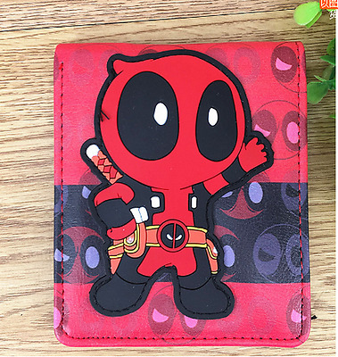 DC Marvel Deadpool wallet animated cartoon fashion short leather bifold purse G