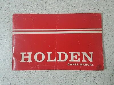 Holden HQ Series Owner Manual
