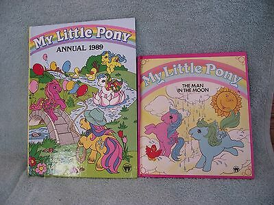 My Little Pony Annual - 1989 + Story Book `Man in the Moon` - 1985 - Hardback