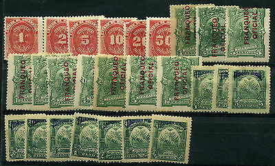 1946 Nicaragua + Air Mail + Timbre Taxe Small Lot Of  See Photo -  Mh D365/370