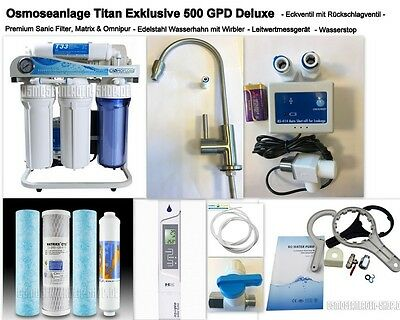 Deluxe exécution ! osmoseur TITAN exclusif 500 GPD / ca.1.900 Litre pro Tag