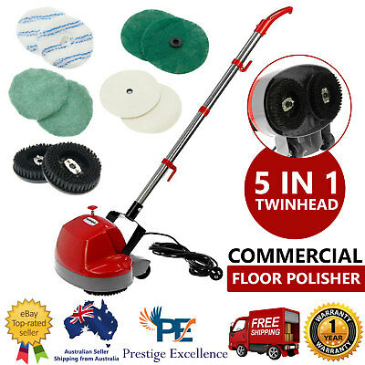 5 in 1 Floor Polisher Electric Timber Carpet Tile Waxer Cleaning Buffer Cleaner