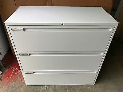 Maine storage side filer White with 3 Draws Filing Cabinet