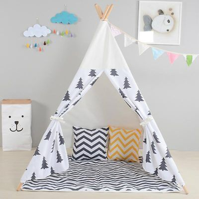 Pine Tree WIGWAM Large Kids Children's Teepee Cotton Play Tent Tipi In & Outdoor