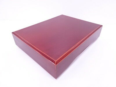 3105292: Japanese Shunkei Lacquered Wooden Box Urushi Multi Container