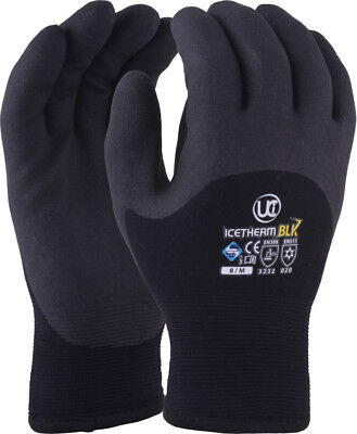 UCI ICETHERM-BK - Thermal Insulated 3/4 Coated Cold Work Gloves - Winter Freezer