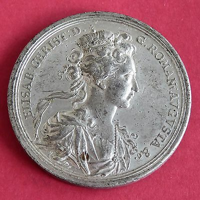 CATALONIA 44mm WHITE METAL MEDAL FEATURING DOVE OVER THE ARK - ELISAB CHRIST
