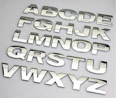 New Chrome 3D Self-adhesive Letter number car badge door sticker for Home & Auto