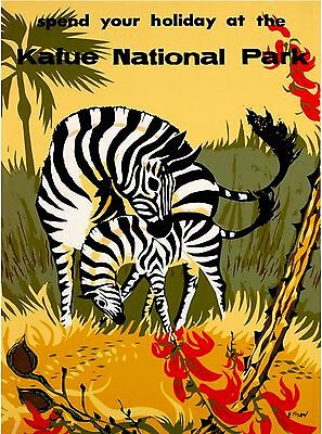 Kafue National Park Zambia Africa Vintage Travel Advertisement Art Poster Print