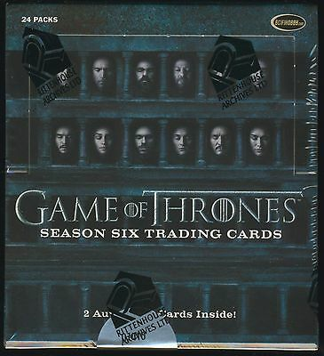 Game of Thrones Season 6 Trading Cards SEALED HOBBY BOXES  - 4 box lot