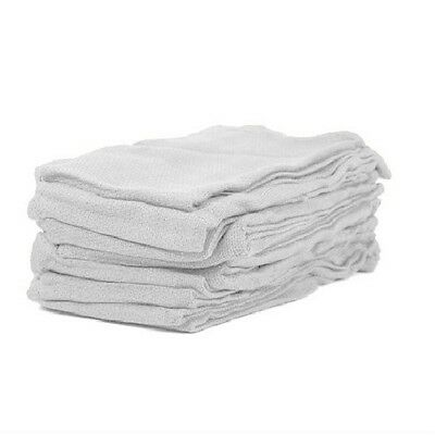 12 new premium white Huck towels surgical glass cleaning crafts 100% cotton