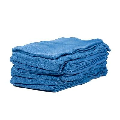 60 new premium blue Huck towels surgical glass cleaning crafts 100% cotton