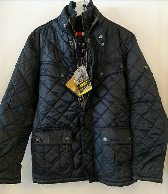 BRAND NEW - Barbour International Windshield Quilted Navy Jacket S