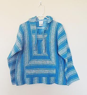 Mexican Women's Hoodie Jerga Size M Pullover Baja Poncho Surfer Hippie Jacket