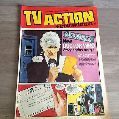 TV ACTION + COUNTDOWN - Vintage Paper Comic - Issue 71 - JUNE 24,1972 - DR. WHO