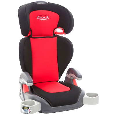 GRACO CAR SEAT RED Junior Maxi Lyon Group 2-3 HIGH BACK BOOSTER AGE 4+ chair NEW