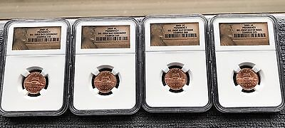 Four (4) 2009 Lincoln Presidency- (2)First Day Issue (2)First Day Ceremony NGC