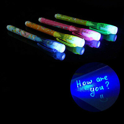 3Pcs Invisible Ink Spy Pen with Built in UV Light Magic Marker Secret Message