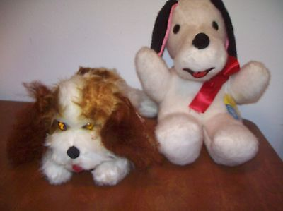 Vintage Stuffed Toy Plush Lot With tags Dogs Beagle and Spaniel