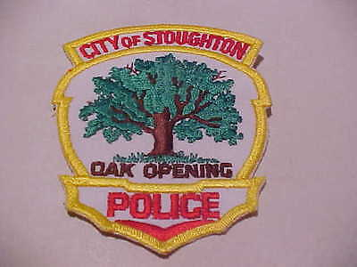 Stoughton Wisconsin  Police Patch Shoulder Size  Type 3